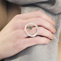 Tina_Kotsoni_sterling_silver_tourmaline_quartz_gemstone_ring_handmade_Greece_Greek