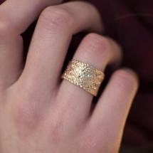 Tina_Kotsoni_hammered_rose_gold_ring_handmade_Greece_Greek_textured