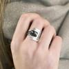 Tina_Kotsoni_black_and_silver_contrasting_ring_handmade_Greek_Greece