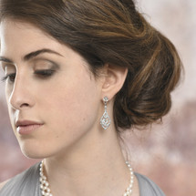 Jessie Statement Vintage Styled Bridal Earrings