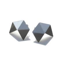 'GEOM' Small Sterling Silver Stud Earrings