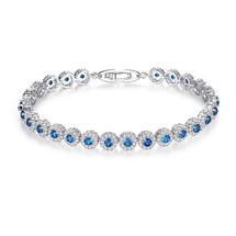 Wallis Something Blue Circular Bridal Bracelet