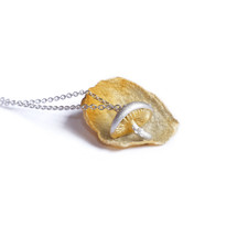 Shi_Kou_Er _Jiong_sterling_silver_handmade_mushroom_necklace_gold_plating