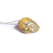 Shi_Kou_Er _Jiong_sterling_silver_handmade_mushroom_necklace_gold_plating