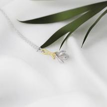 Shi_Kou_Er_Jiong_flower_earrings_sterling_silver_gold_plating_handmade