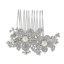 Abigail Diamante Flower Hair Comb