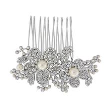 Abigail Diamante Flower Hair Comb