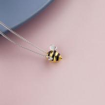 Shi_Kou_Er_Jiong_handmade_bumblebee_necklace_sterling_silver_gold_plating