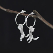 hanging_cat_kitten_hooped_earrings_statement_sterling_silver_handmade