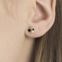 earrings_studs_black_onyx_pearl_diamante_gold_plated_sterling_silver_Hakuna_Japan