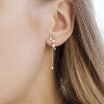 Hakuna_Japan_earrings_asymmetric _sea_shell_handmade_gold_plated_sterling_silver