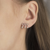 Hakuna_Japan_sterling_silver_circle_pearl_stud_earrings