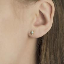 earrings_studs_fashion_jewellery_Hakuna_Australian_opal_gold_plating_sterling_silver_small