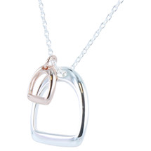 Reeves_and_Reeves_sterling_silver_18ct_rose_gold_plating_stirrups_horse_lover_equestrian