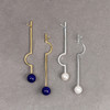 Botanic_Garden_collection_earrings_geometric_statement_thin_long_gold_plating_lapis_stones