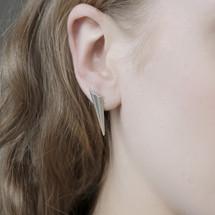Alice Barnes - Pointy Silver Earrings