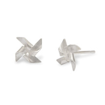 Alice_Barnes_sterling_silver_windmill_earrings_studs_handmade_jewellery
