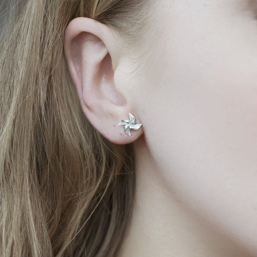 Alice_Barnes_sterling_silver_windmill_earrings_studs_handmade_jewellery