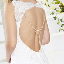 Azalea Bridal Dress Backdrop Necklace Pendant (AR097)