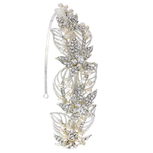 Viola Leafy Wreath Side Headband