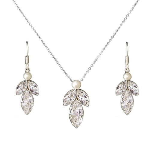 classic three trinity oval shaped bridal wedding jewellery set