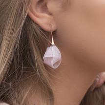 VLUM_Paris_earrings_nylon_threading_handmade_baby_pink_rose_gold_knot