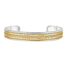 Anna_Beck_handmade_bangle_gold_plating_sterling_silver_beading_chunky