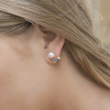 Hakuna_Japan_handmade_jewellery_gold_plating_sea_shell_star_freshwater_pearl_earrings