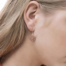 Hakuna_Japan_handmade_jewellery_rose_gold_plating_heart_earrings_drop_dangling
