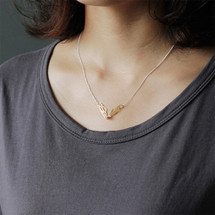 gold_plating_sterling_silver_butterfly_wings_insect_wings_Cubic_Zirconia_necklace