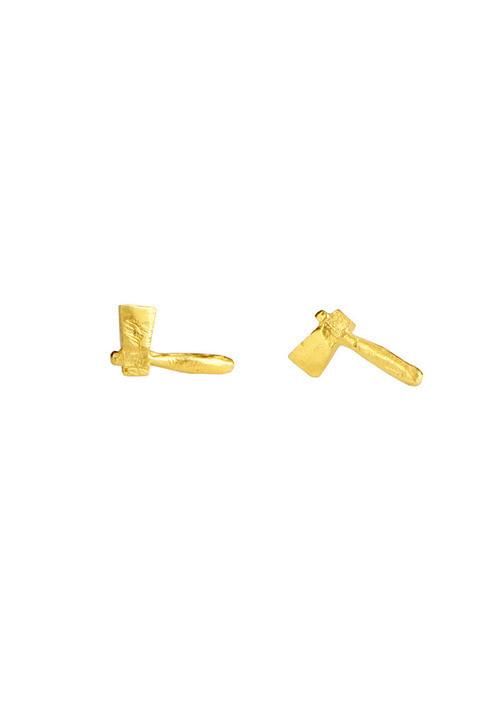 Tiny Axe Earrings