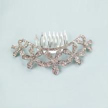 'Enchanted Ella' Curved Crystal Flower Hair Comb
