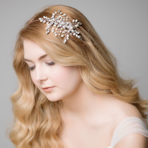 'Aimee' Dreams of Enchantment Side Pearl Headpiece Tiara