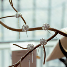 'Beautiful Pippa' Crystal Flower Bridal Hair Pins