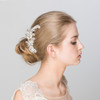 'Angelina' Vintage Feather Statement Hair Comb with Pearls