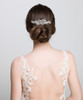 'Annmarie' Diamante Crystal Flower Bridal Hair Comb work perfectly with veil