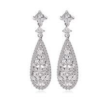 'Carlita' Majestic Glamour Deco Diamante Drop Earrings