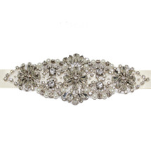 'Daphne' Vintage Inspired Bridal Sash Applicate
