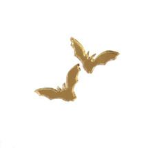 Laser Cut Gold Plated Bat Earrings