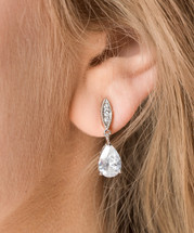 'Gemma' Teardrop Bridal Earrings