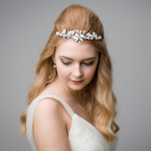 'Seeley' Tiara Opal Crystal Statement Headpiece