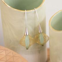 Boucles d'oreilles Volubiles Vert D'eau 4 Earrings