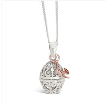 LILY BLANCHE Rose Gold Bird Locket