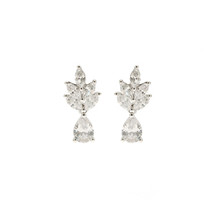'Jeri' Small Leafy Drop Earrings