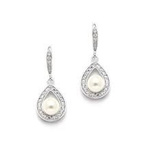 'Drew' Pearl Drop diamante retro vintage Earrings