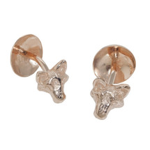 Rose Gold Fox Head Cufflinks