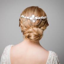 'Lena' Art Deco Pearl Hair Comb