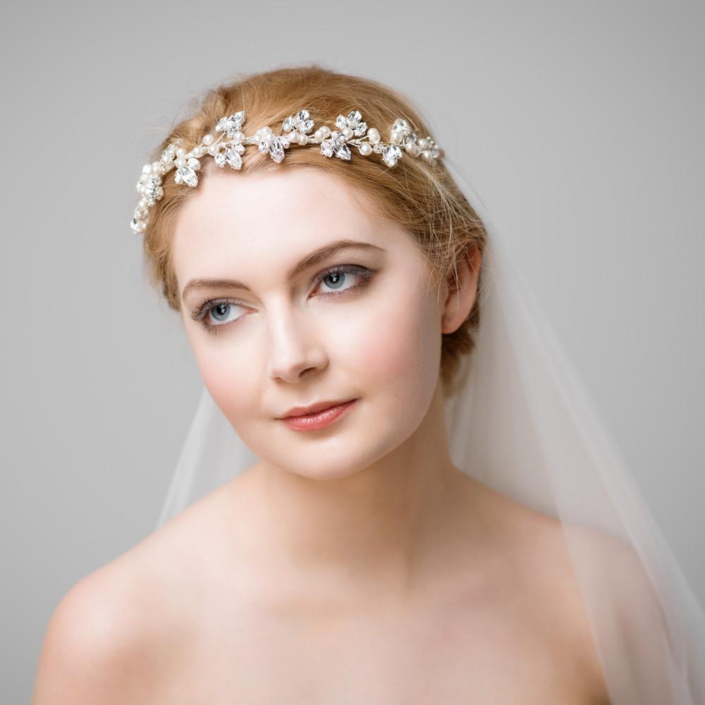 joanne' classic bridal hair vine | handmade wedding hair vine