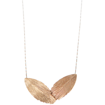 Raven Feather Rose Gold Necklace