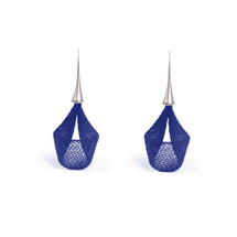 VLUM - Pétale Dark Blue Drop Earrings